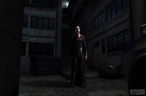 Бэтмен и Супермен отдрючили грудастую красотку Чудо женщину №2