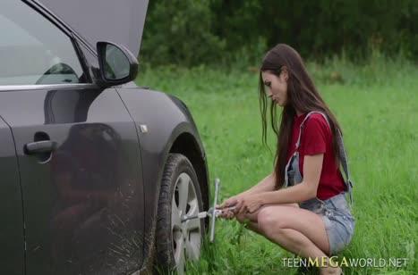 Поломка машины была предлогом в поисках хорошего секса